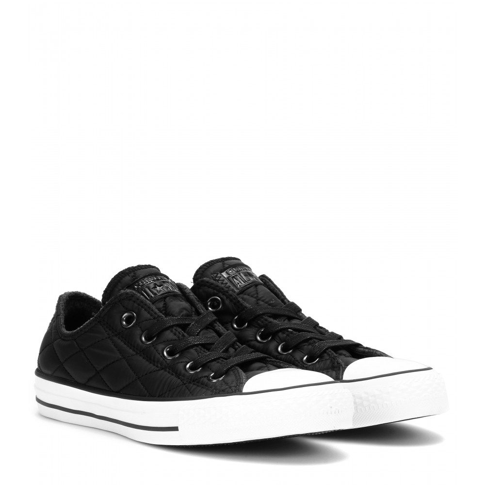 converse chuck all quilted sneakers in black