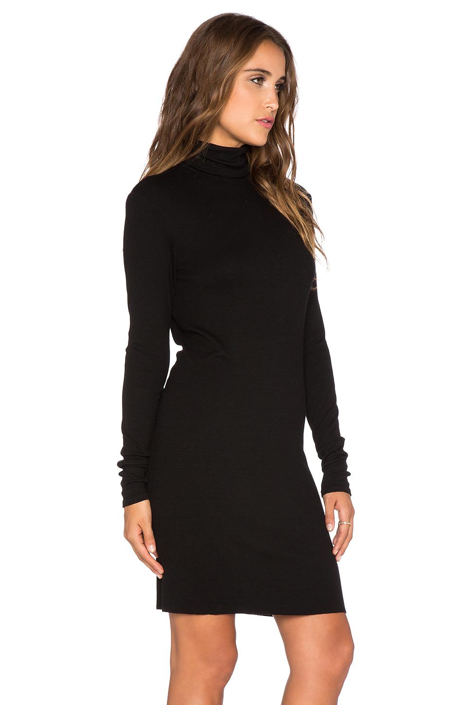 8dc610739061 black long sleeve turtleneck mini dress | ivo hoogveld