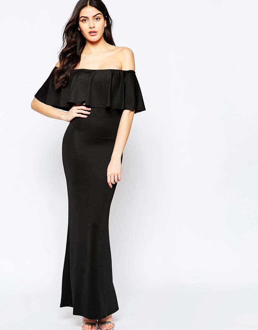 Black top maxi dress