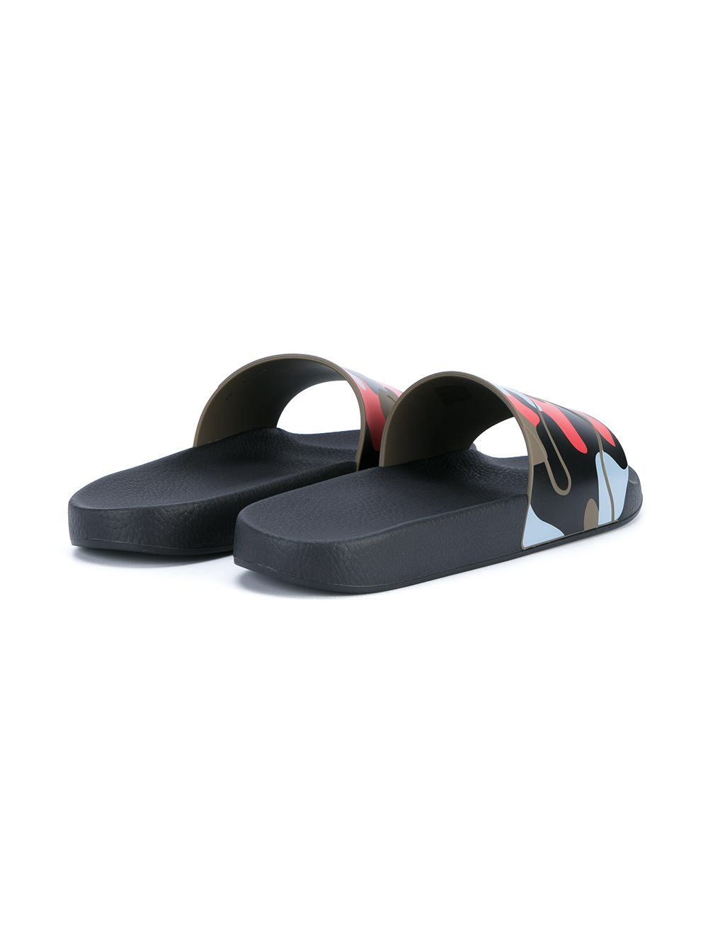 4353a5f46df Lyst - Valentino Camouflage Print Pool Slides for Men