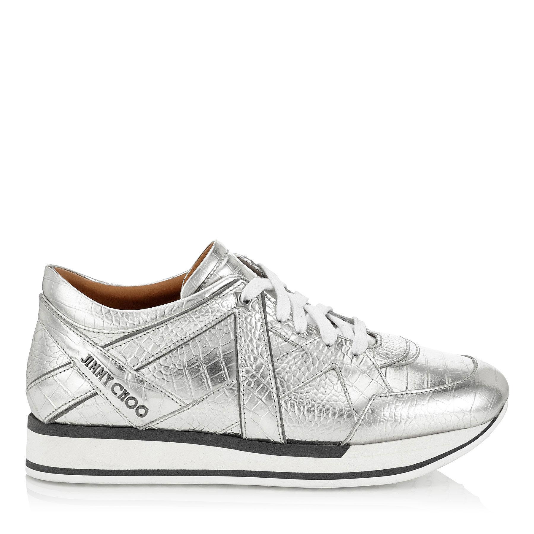 White Croc Jett Sport Sneakers Jimmy Choo London my6wieqjh