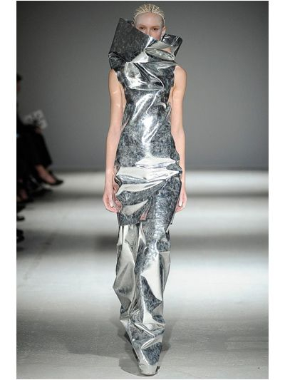 Gareth Pugh Sleeveless Mirror Dress In Metallic Lyst