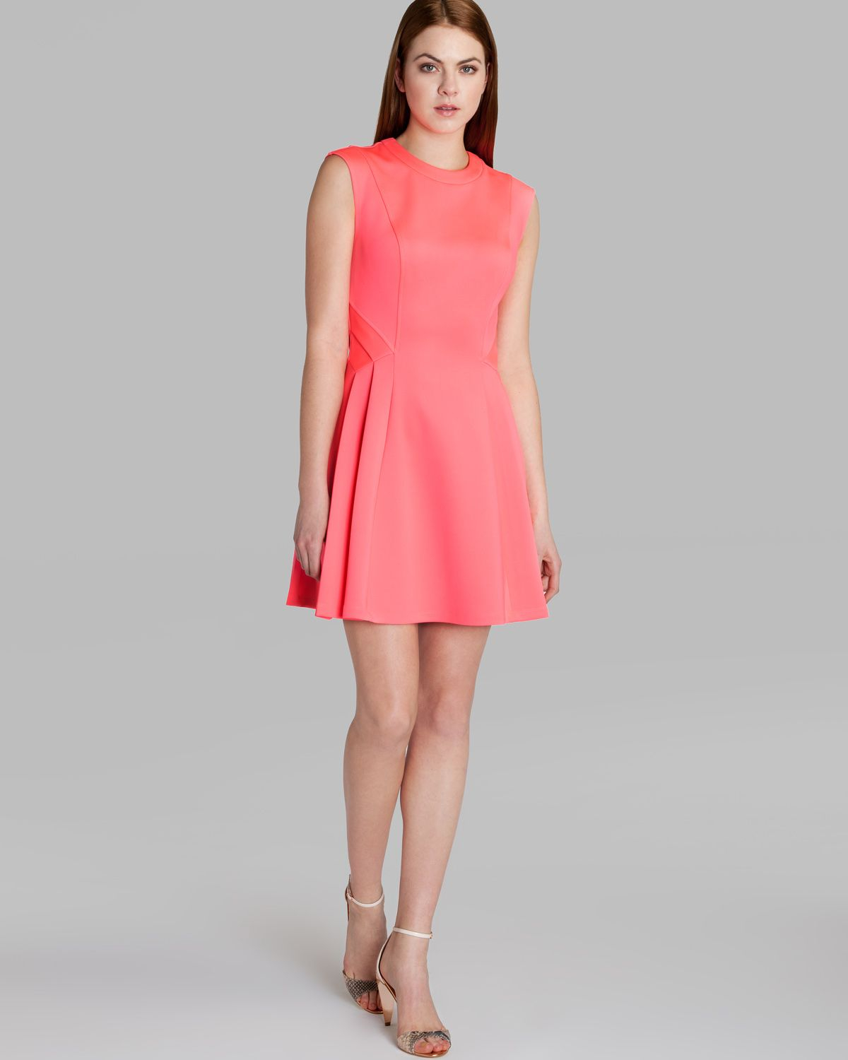 f94192556a Lyst - Ted Baker Dress Nistee Skater in Pink