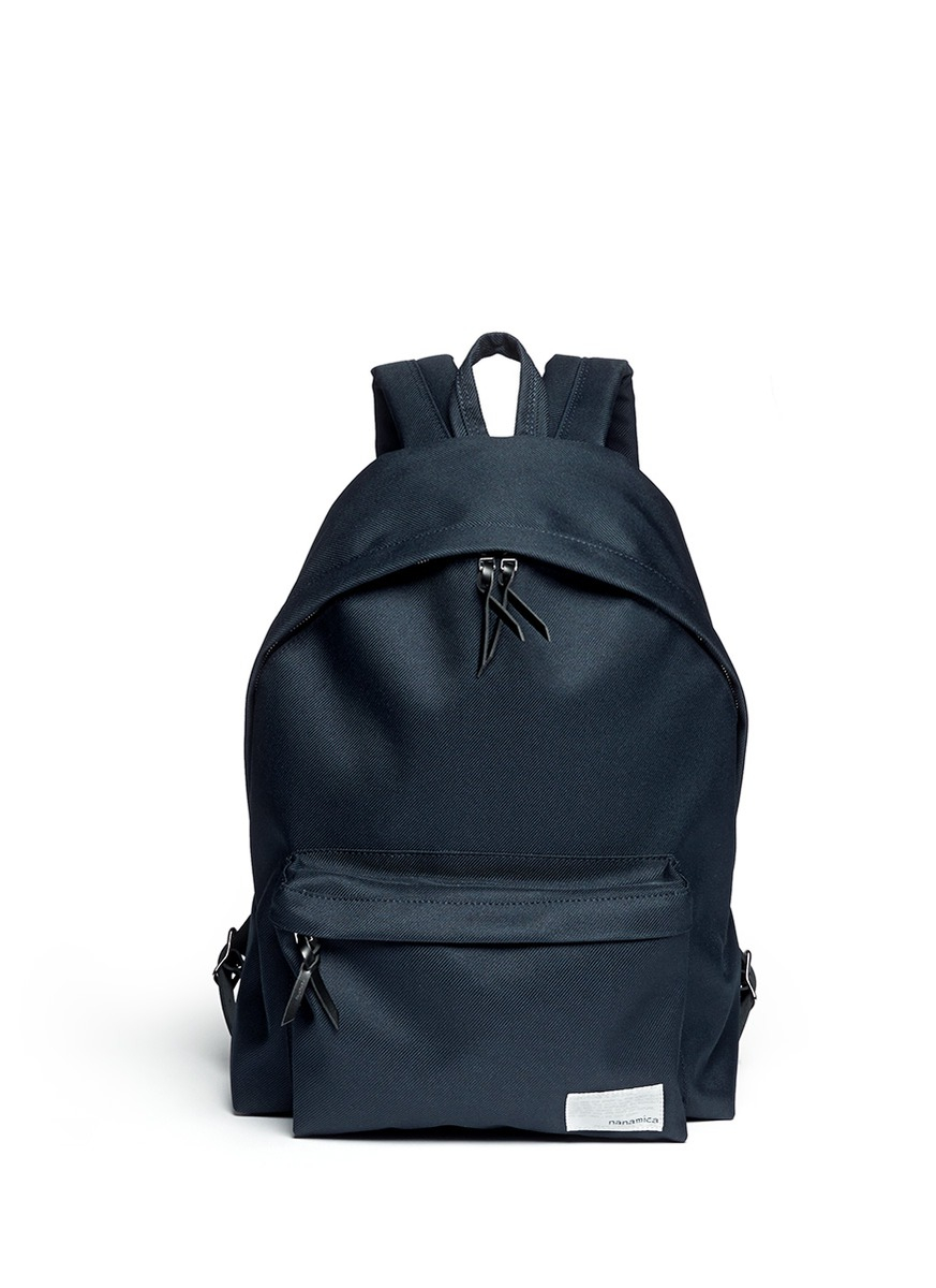 Nanamica cordura 174 twill cycling backpack in green for men blue - Gallery