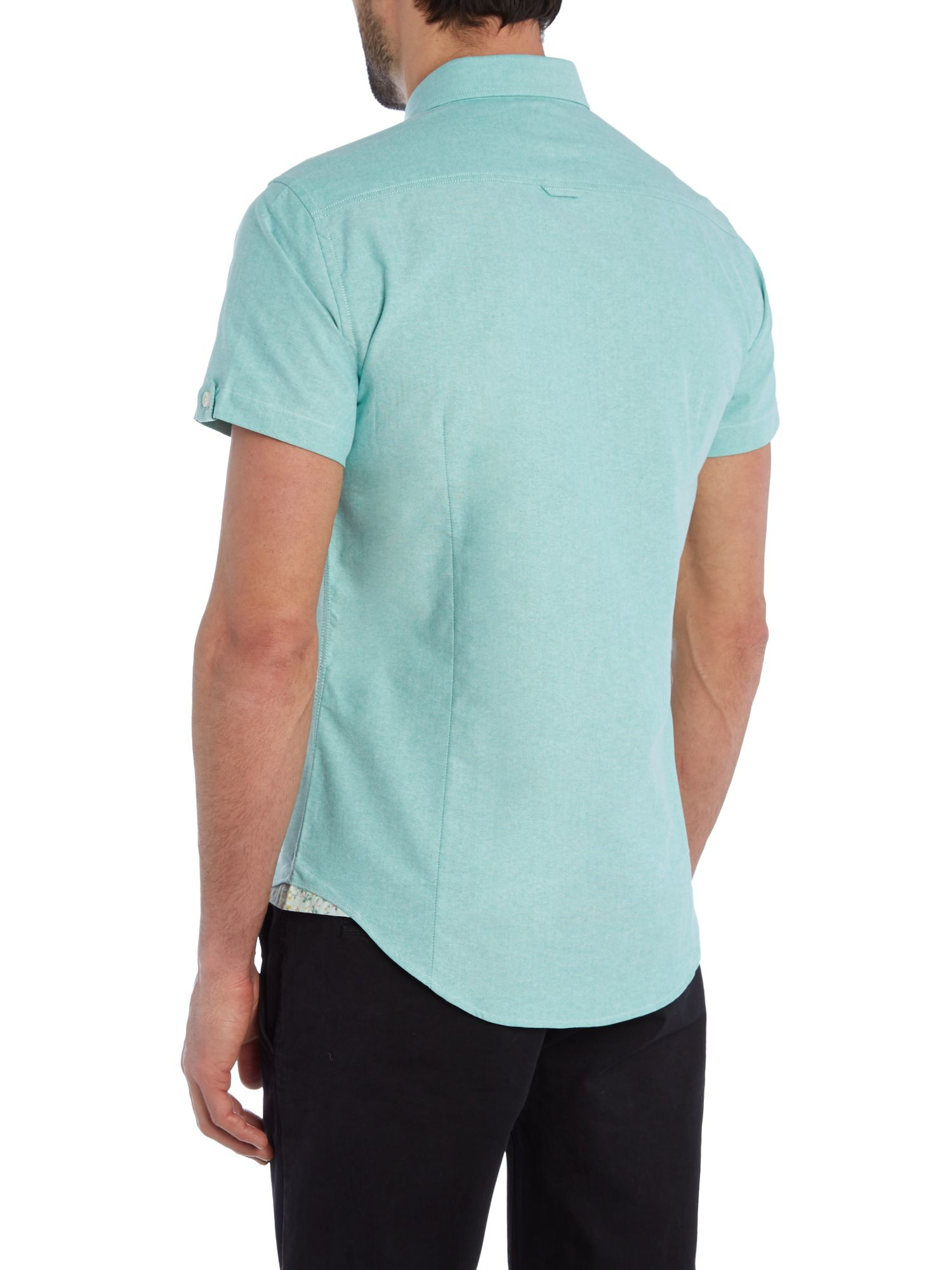 Casual Friday Plain Slim Fit Short Sleeve Button Down