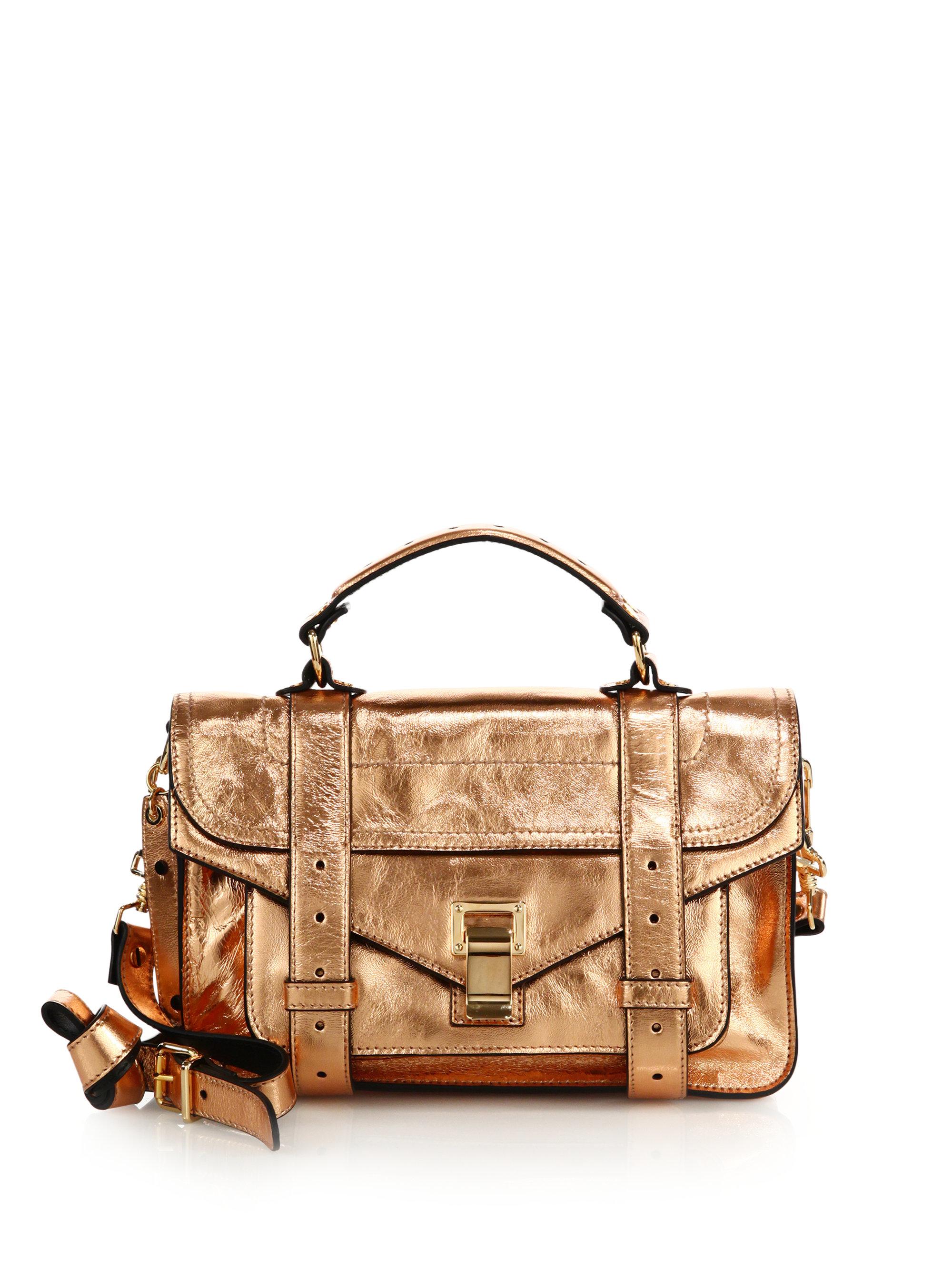 Proenza Schouler PS1+ Tiny Metallic Leather Satchel Bag hVoB9ss