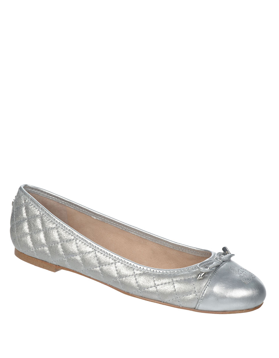 380a0357c Lyst - Sam Edelman Becka Quilted Flats in Metallic