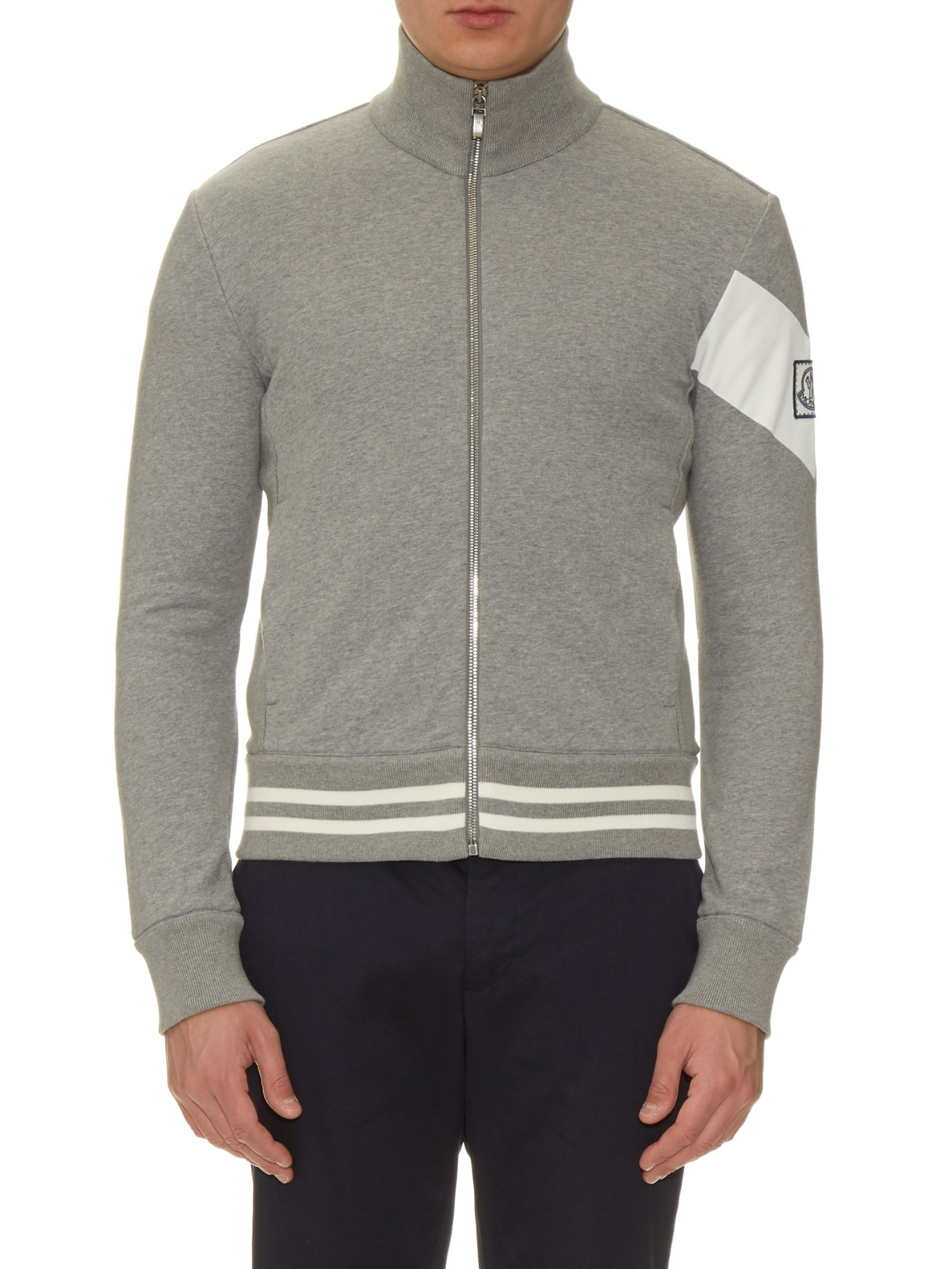 2da46c0ae Lyst - Moncler Gamme Bleu Zip-up Cotton-jersey Track Top in White ...