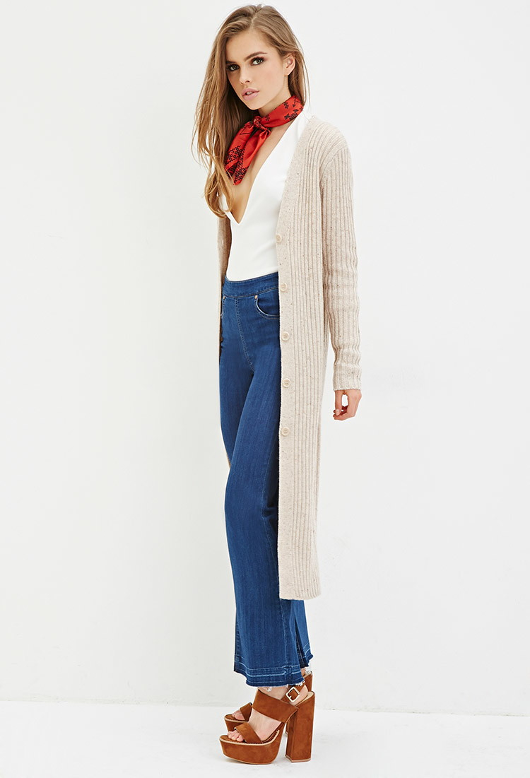 Forever 21 Ribbed Longline Cardigan You've Been Added To The ...
