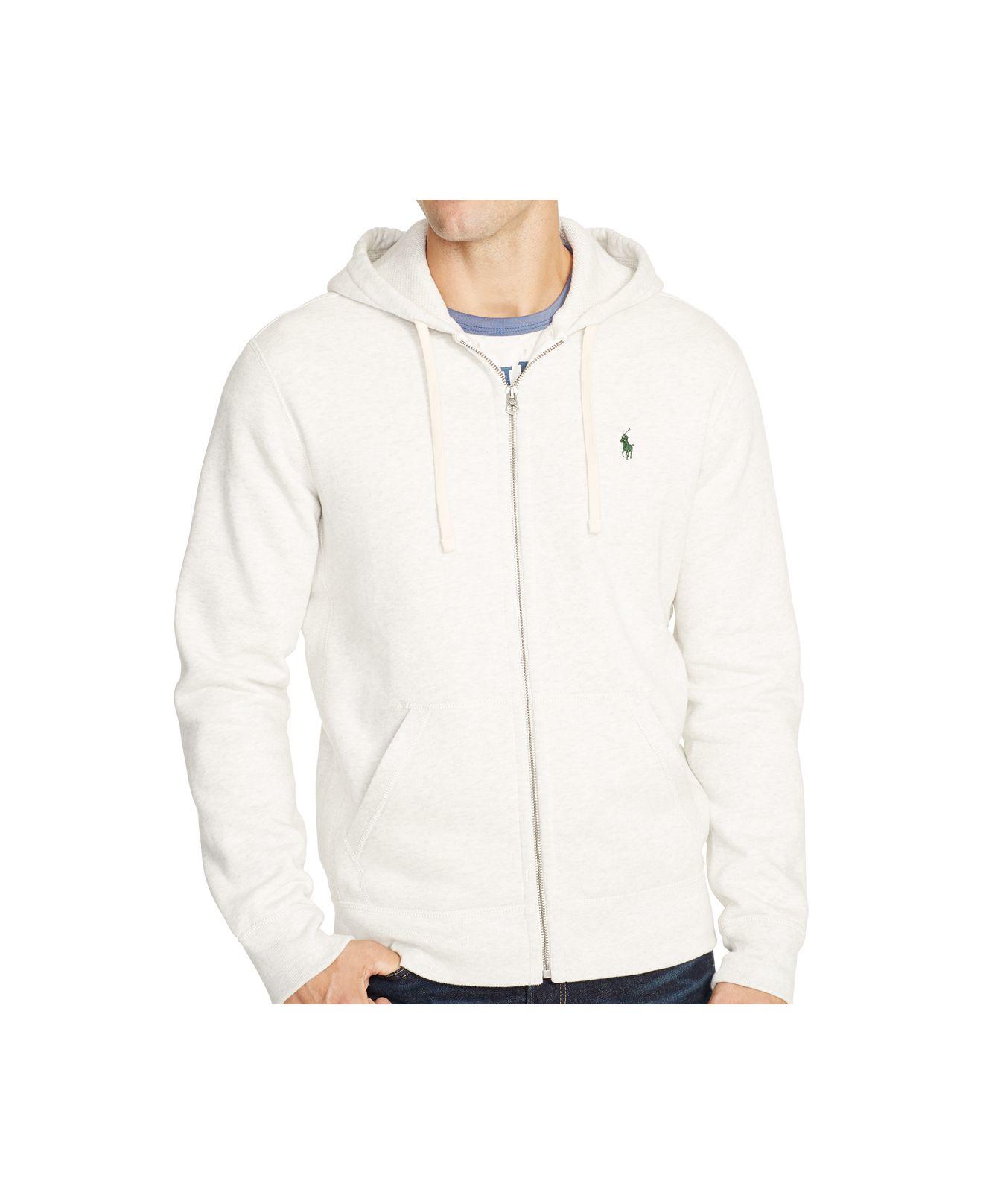 Lyst Polo Ralph Lauren Full Zip Hoodie In White For Men