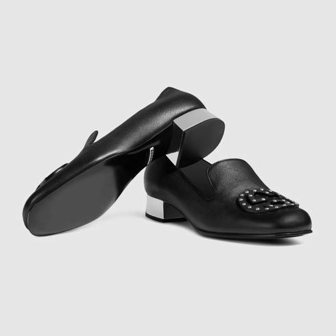 1275a5332b3e Lyst - Gucci Soho Leather Loafer in Black