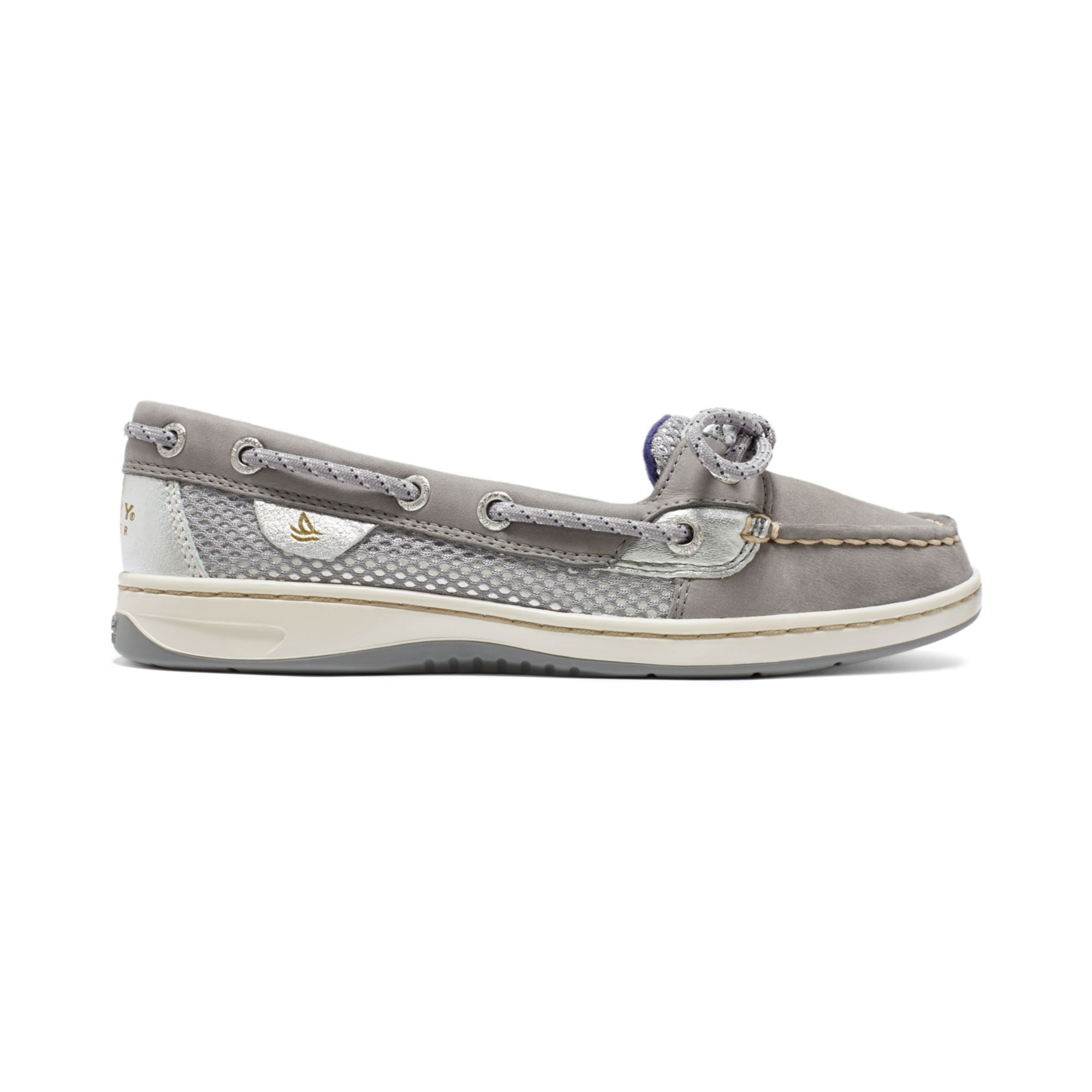 Sperry Top Sider Silver Boat Shoes