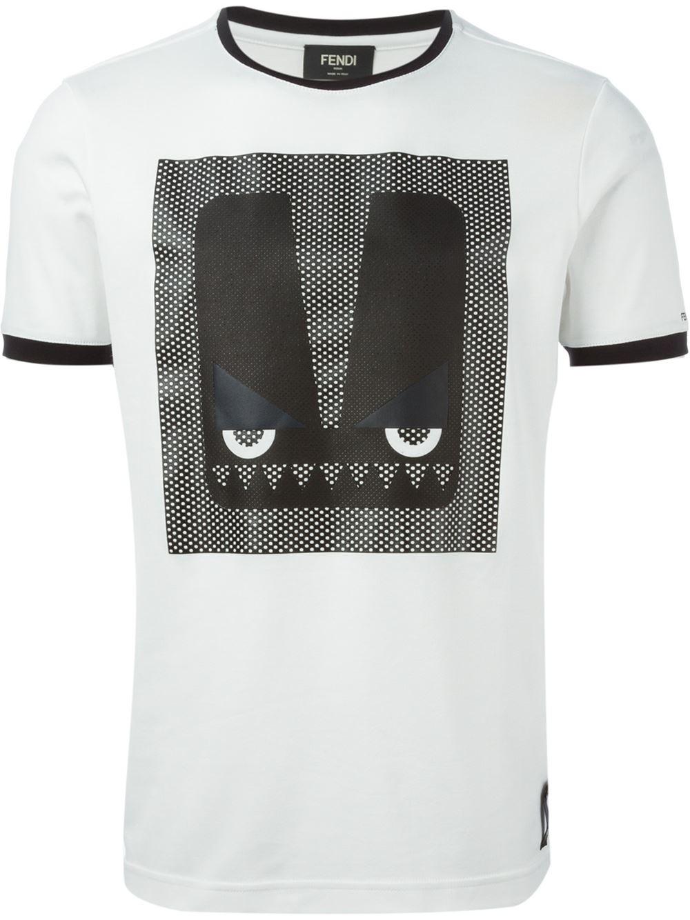 Fendi Printed polo shirt XlAk5o6w