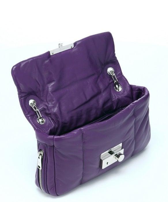 prada authentic handbags online - Prada Violet Quilted Lambskin Chain Link Shoulder Bag in Purple ...
