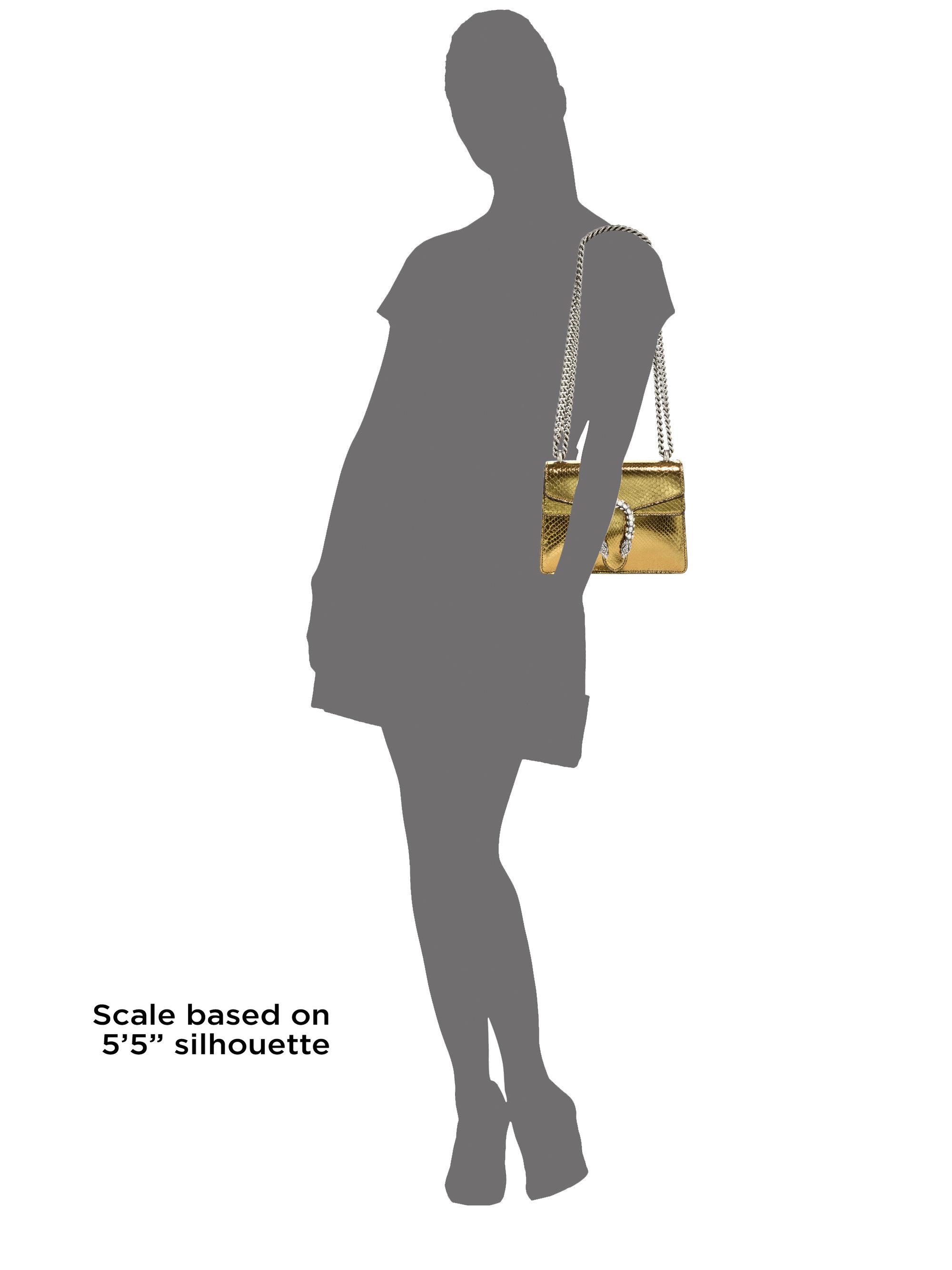 472eb71a16036a Gucci Dionysus Python Mini Shoulder Bag in Metallic - Lyst