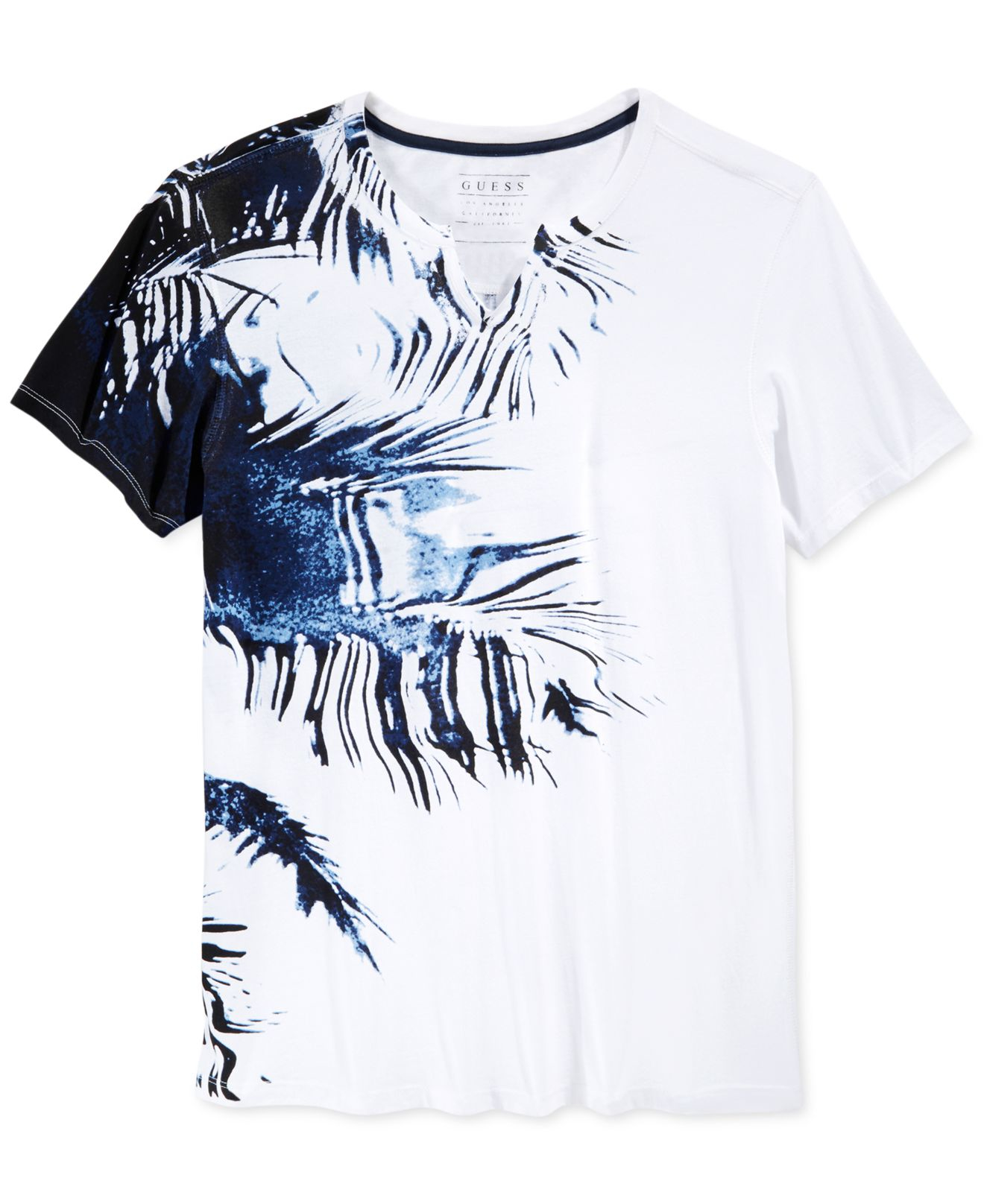 lyst guess stream palm t shirt in white for men. Black Bedroom Furniture Sets. Home Design Ideas