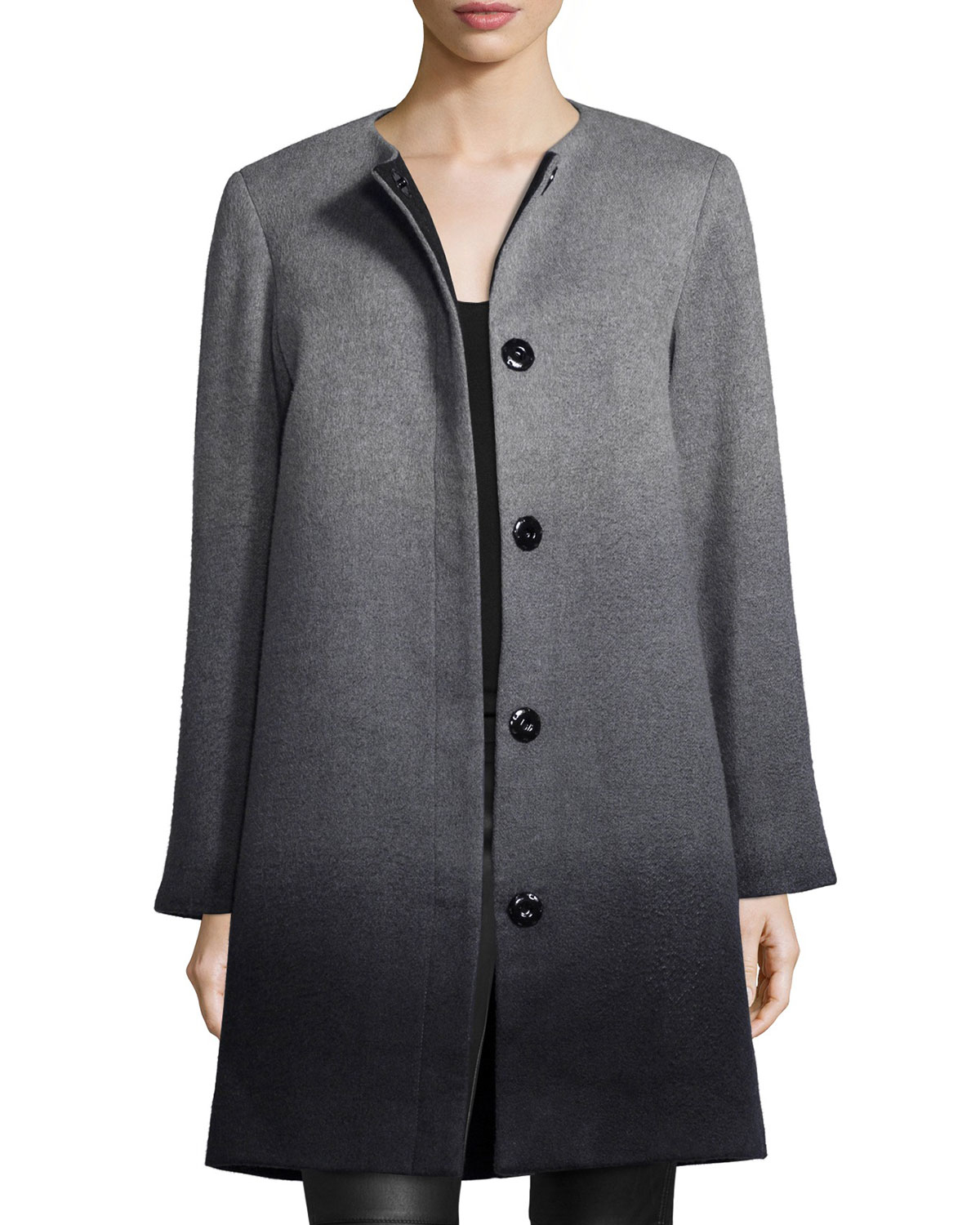 Lyst Sofia Cashmere Wool Cashmere Ombre Coat In Gray