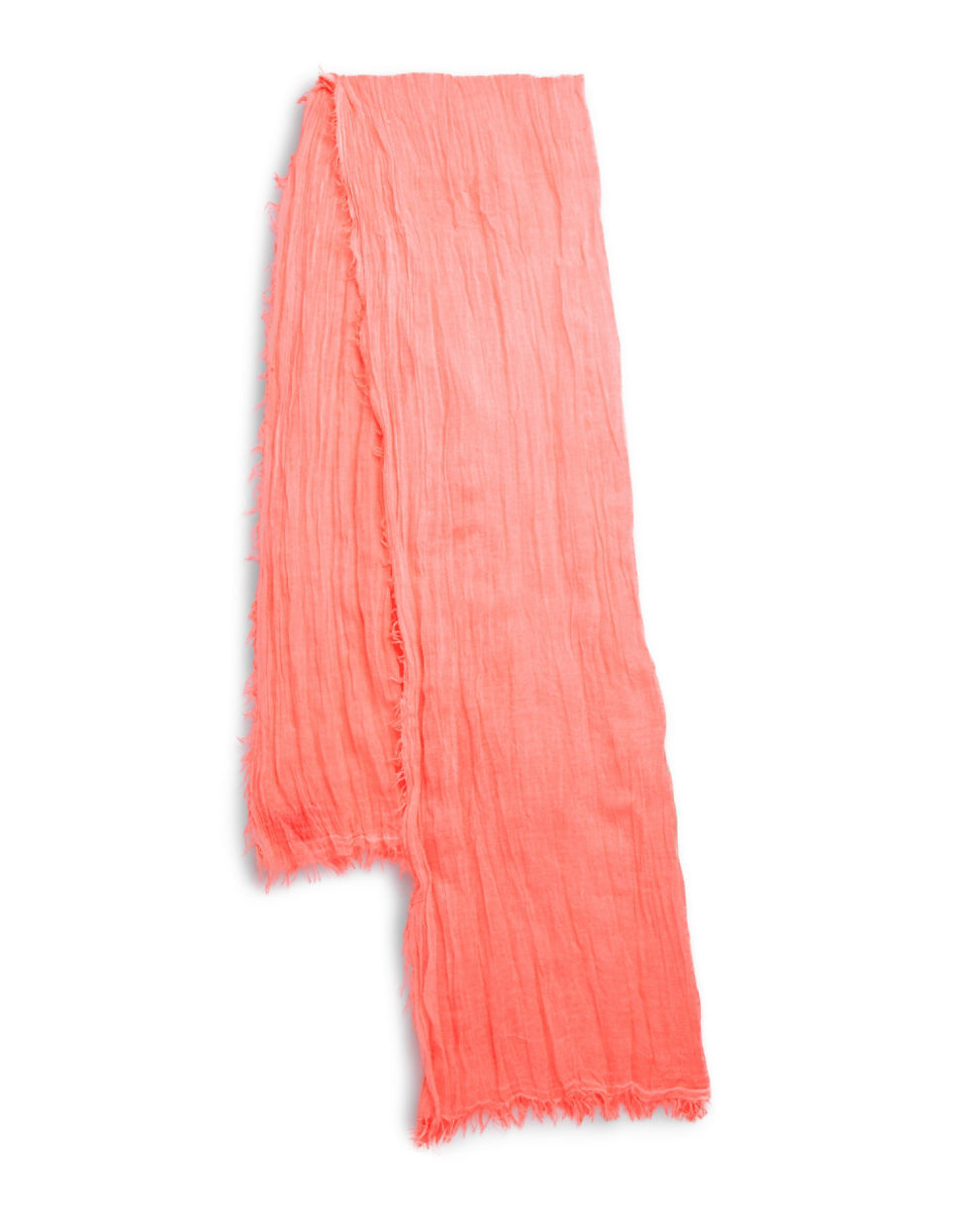 polo ralph crinkle scarf in pink lyst