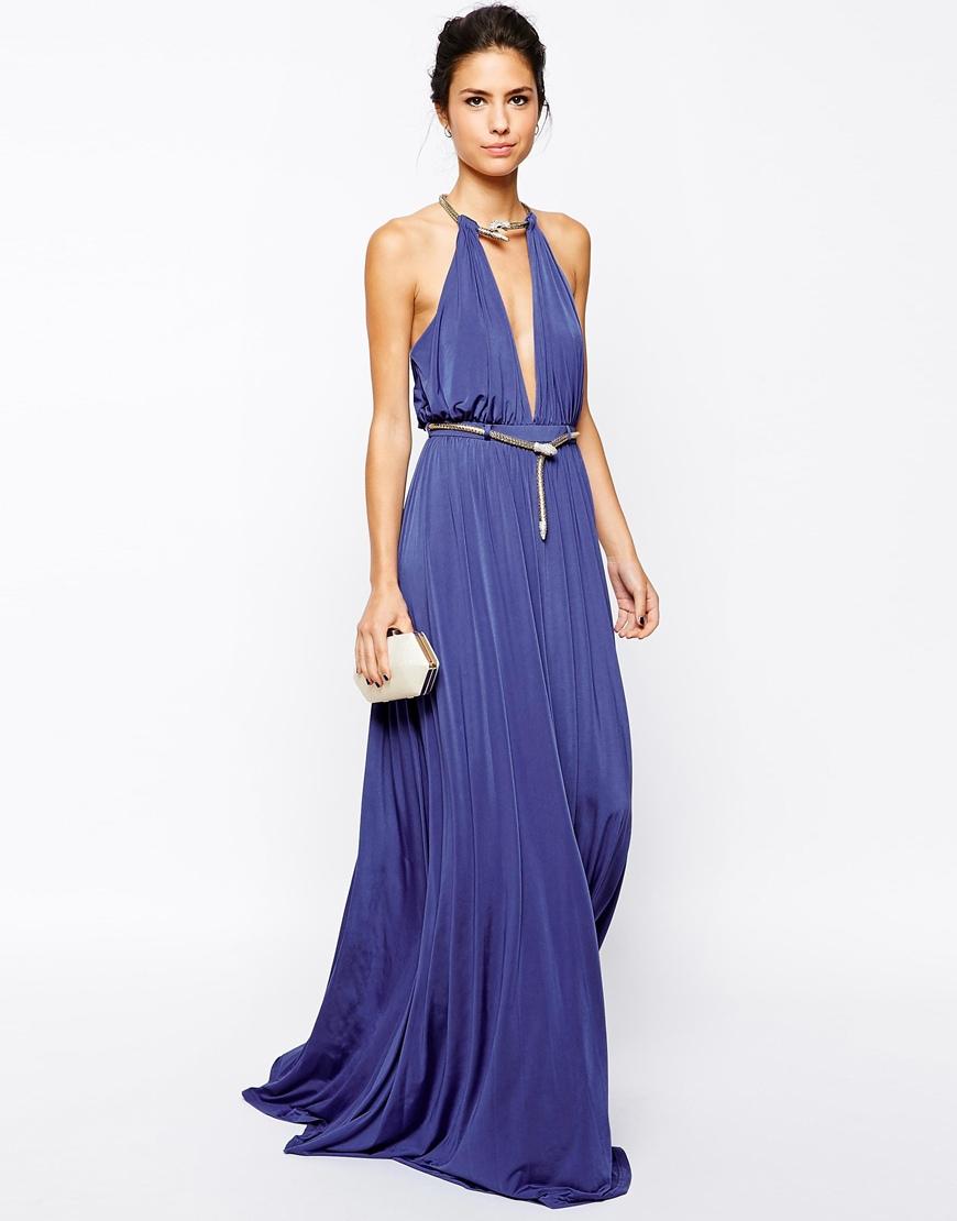 Lyst - Forever Unique Destiny Maxi Dress in Blue