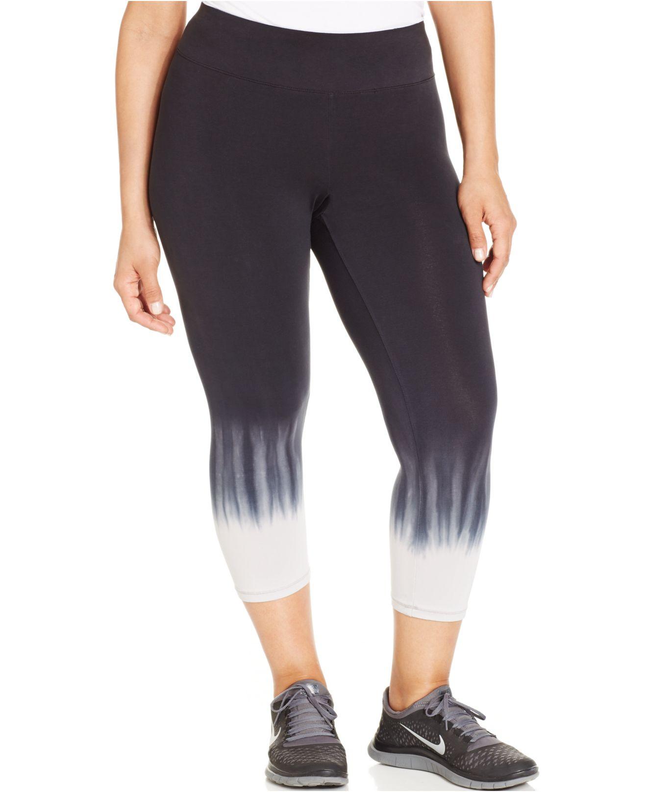 98bcb78dee6 Lyst - Calvin Klein Performance Plus Size Ombré Capri Leggings in Black