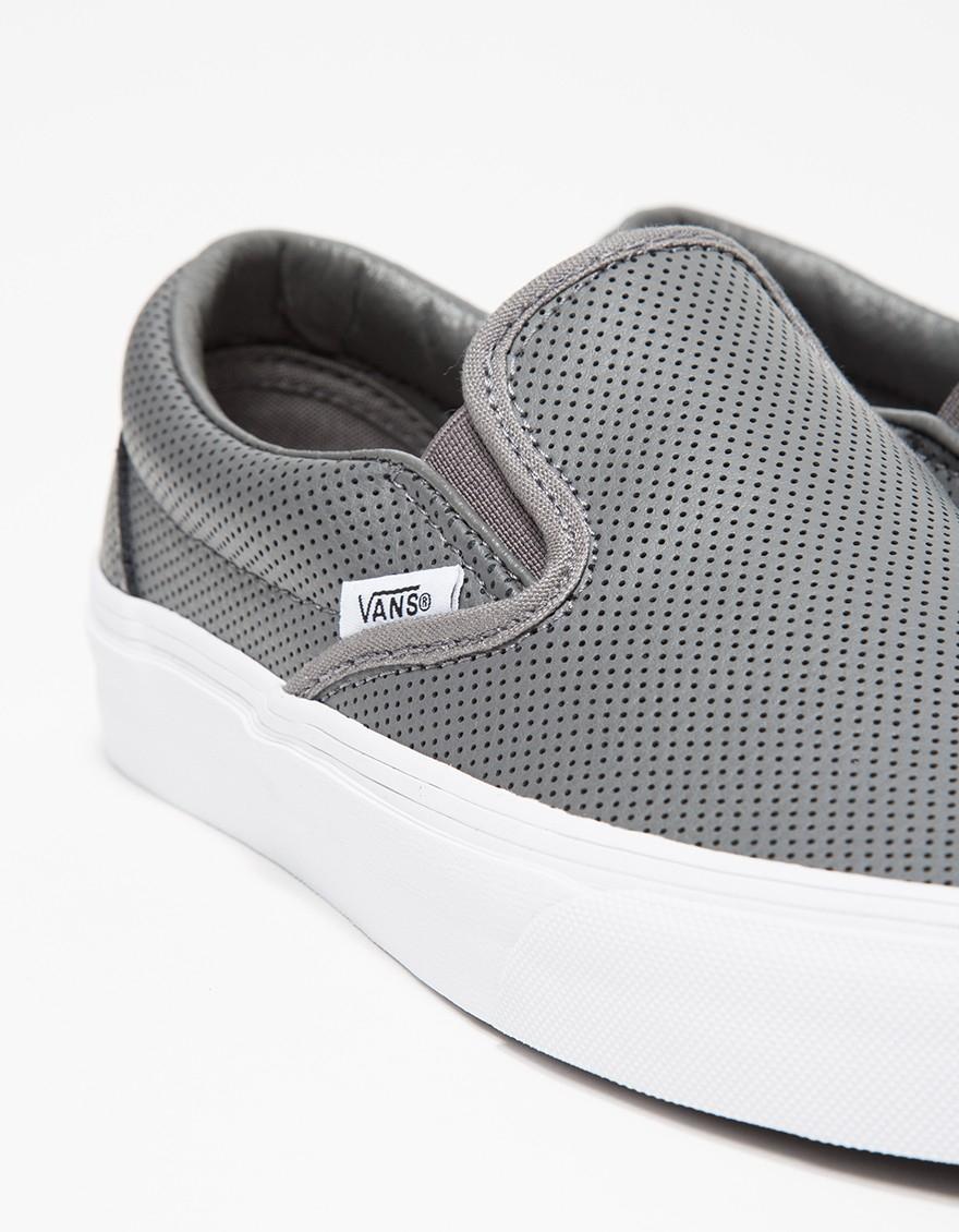 43823d70fc vans perf leather slip on white