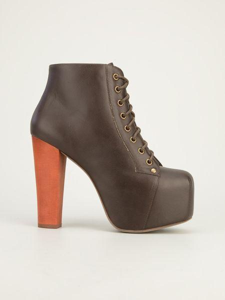jeffrey cbell lita boot in brown lyst