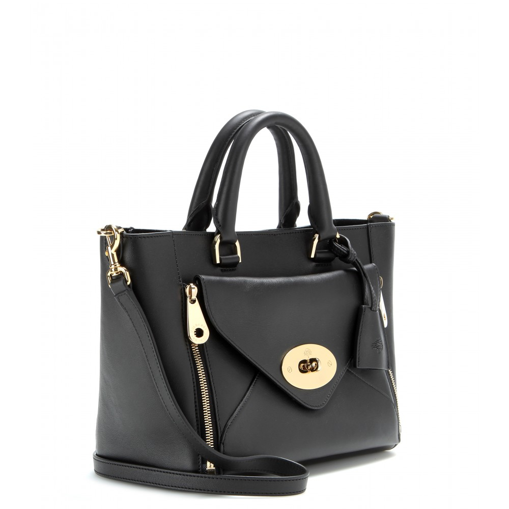 d356e05c95 ... inexpensive mulberry willow small leather tote in black lyst 06ae5 4790c
