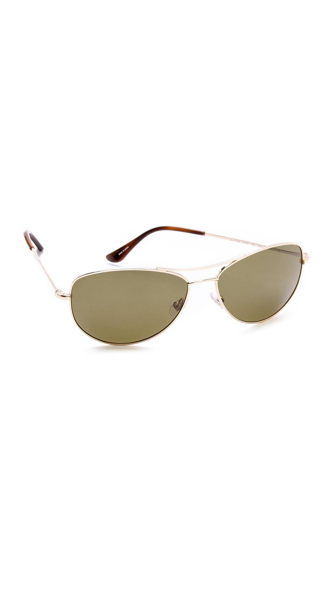 Kate Spade Polarized Aviator Sunglasses  kate spade new york ally polarized sunglasses gold dark brown in