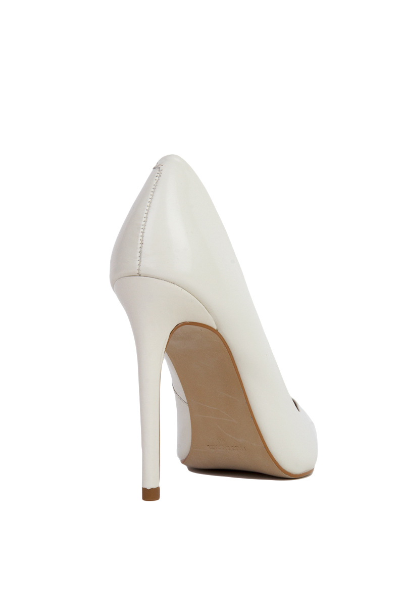 416341c4b92 Lyst - Steve Madden Proto Pointed Toe Pumps - White Leather in White