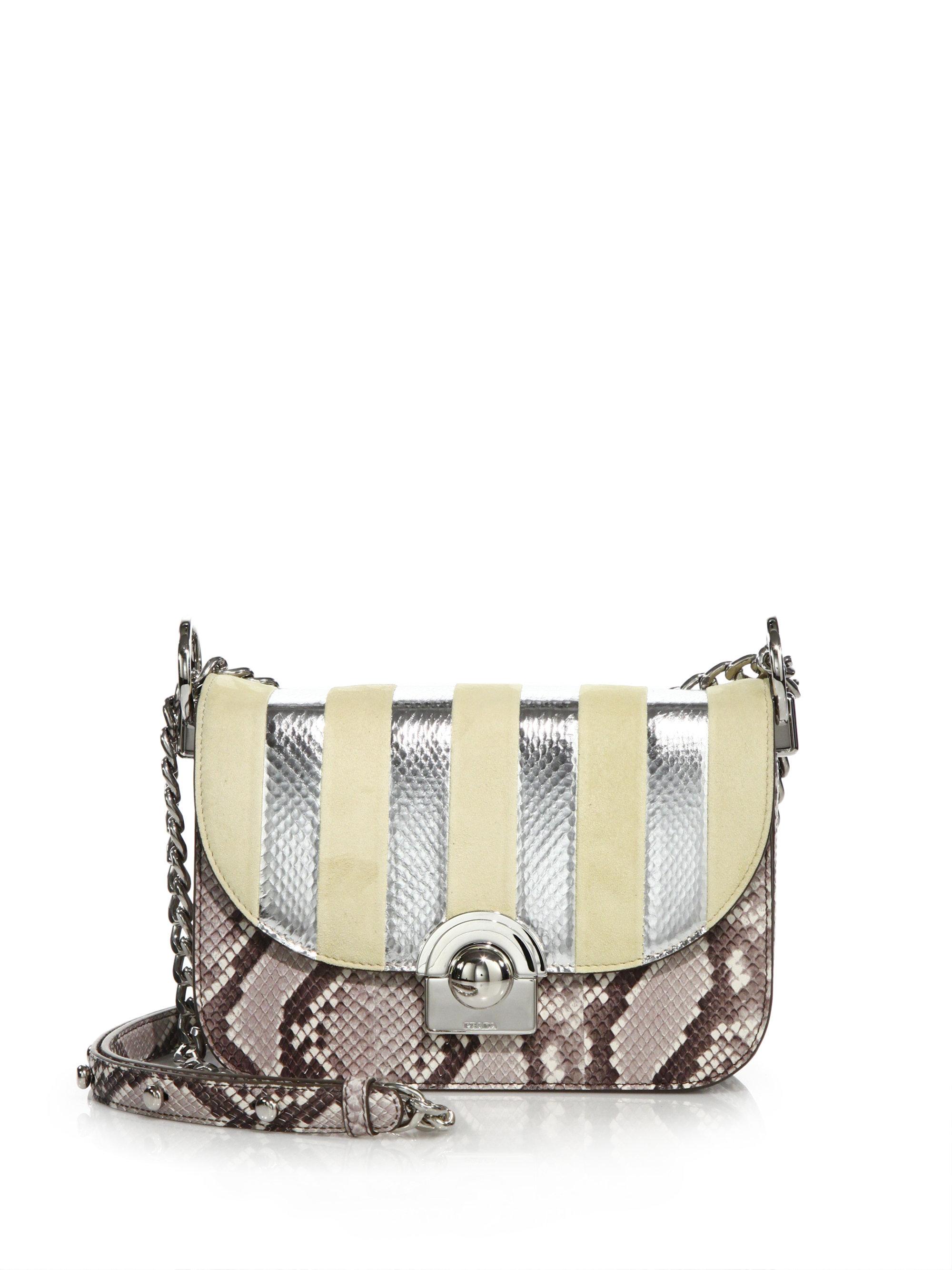 sale prada handbag - prada python medium double bag, prada knock off