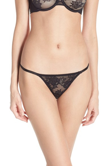 L'agent by agent provocateur 'layla' Thong in Black