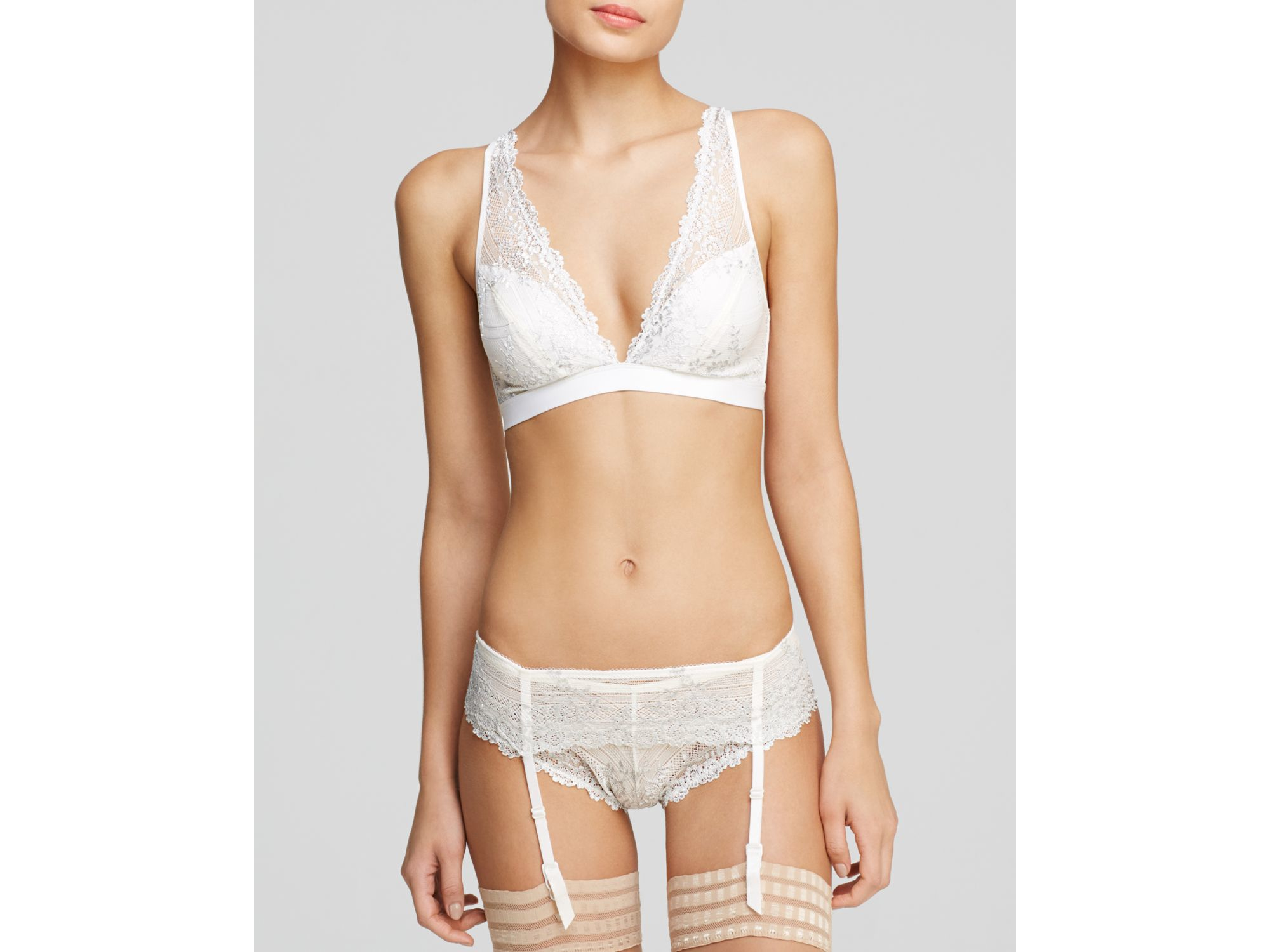 bf0d49572d9 Wacoal Bra - Embrace Lace Convertible Plunge Soft Cup Wireless ...