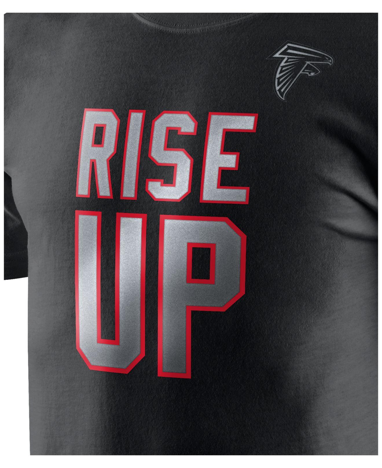 Women's Atlanta Falcons Nike Red Wordmark Cotton Crew 2 T-Shirt