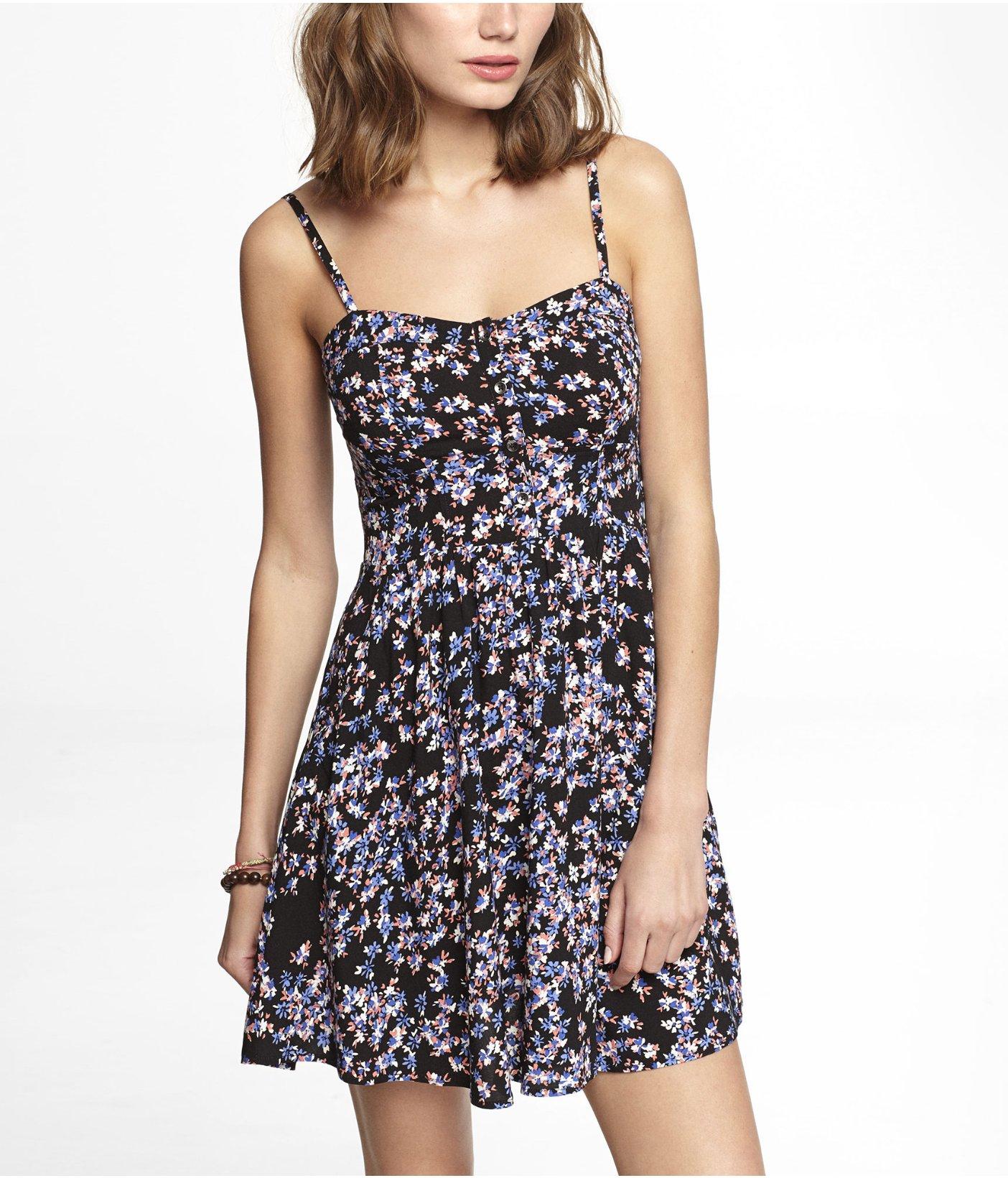 093286a8d95 Express Floral Cami Sundress in Blue - Lyst