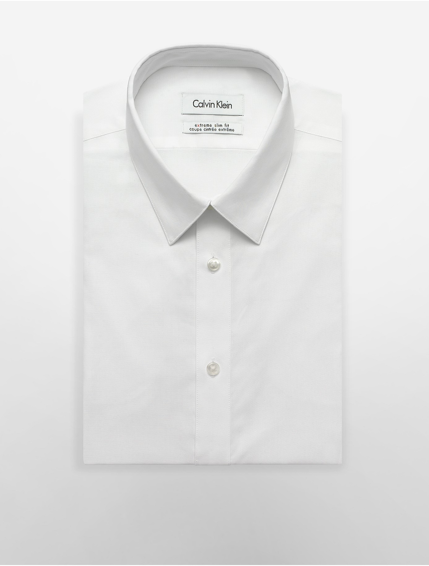Lyst calvin klein white label x fit ultra slim fit for Calvin klein athletic fit dress shirt