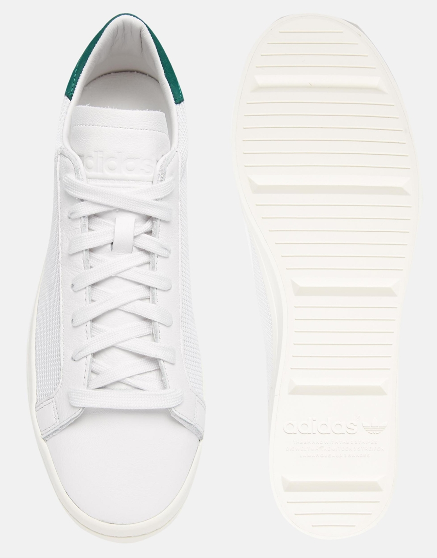 adidas originals court vantage trainers white