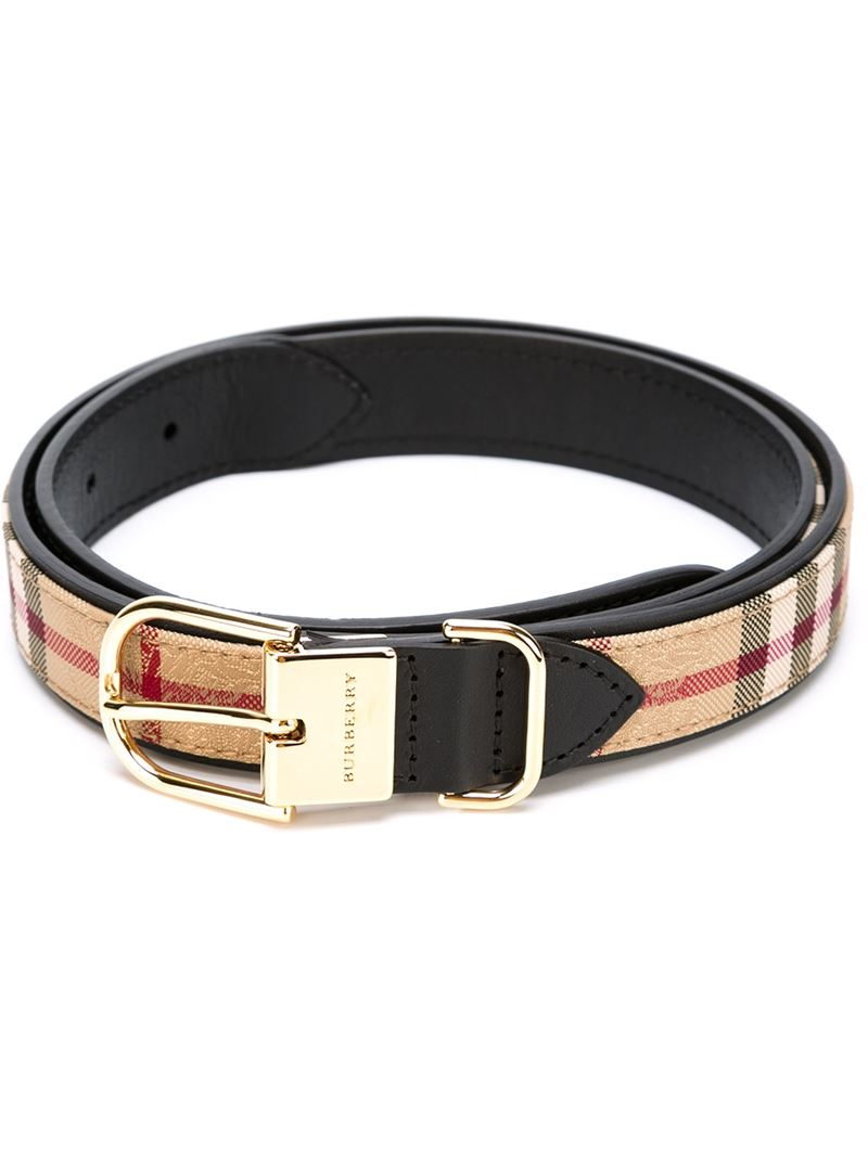Burberry House Check Belt in Black