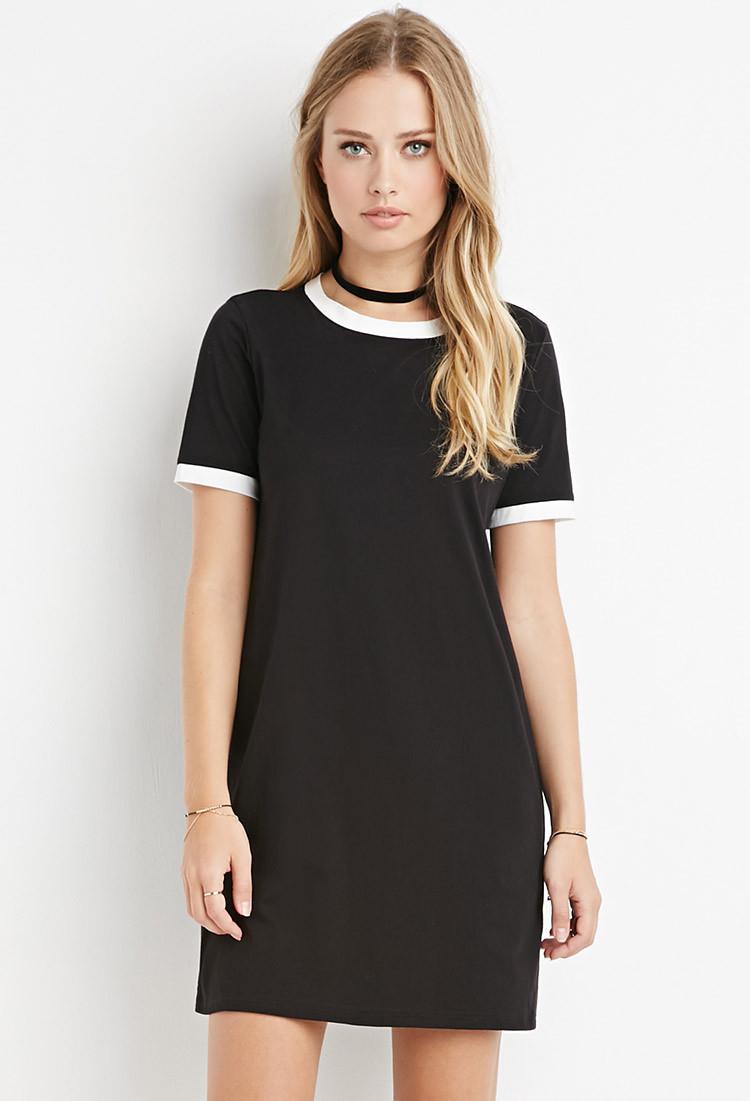 Clothes Ringer 2015 ~ Forever ringer t shirt dress in black lyst