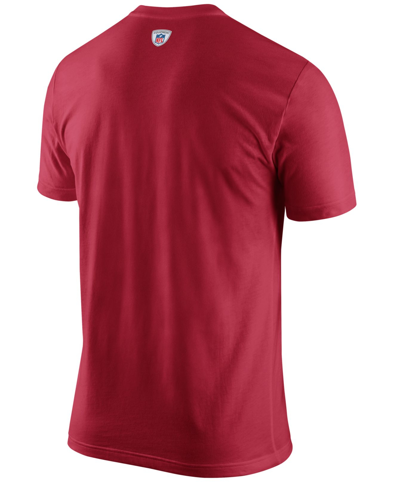 9d9ae0570 Lyst - Nike Men s San Francisco 49ers Facility T-shirt in Red for Men