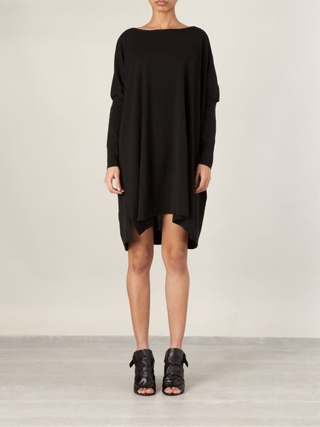 Black Loose Fitting Dresses Loose-fit Shift Dress in