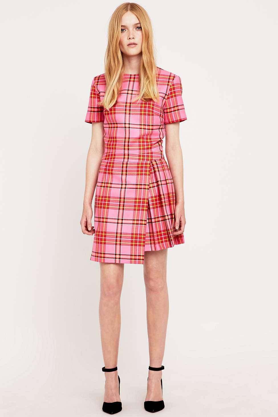 House of holland Pink Tartan Kilt Dress in Pink   Lyst