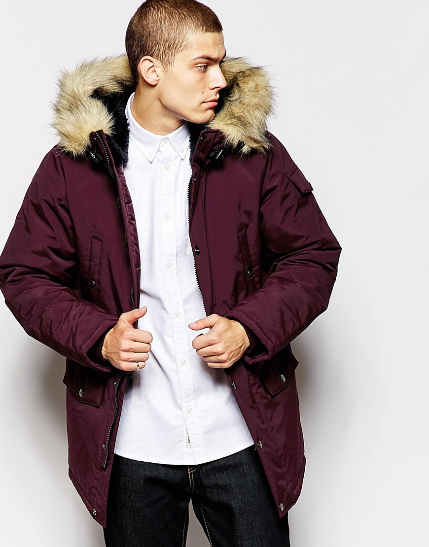 Carhartt wip Anchorage Parka in Purple for Men | Lyst