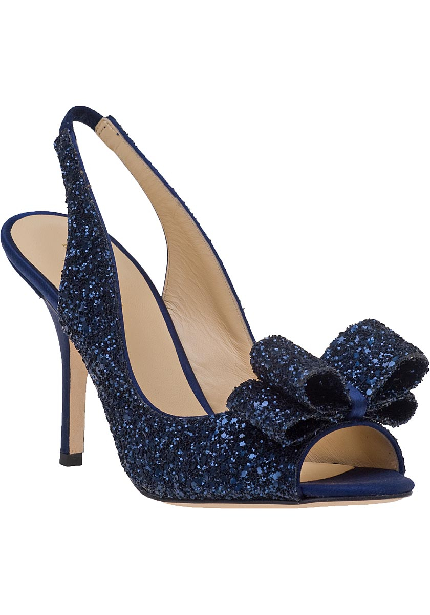 b9f8fff13a5 Lyst - Kate Spade Charm Slingback Peep Toe Pumps in Blue