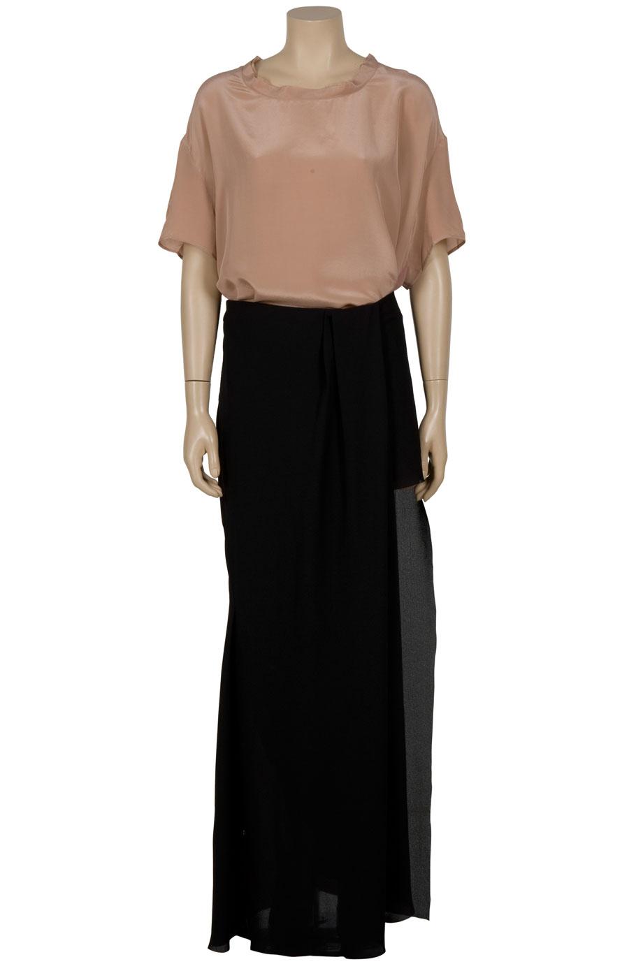 Acne studios Maxi Mini Cutout Skirt in Black | Lyst
