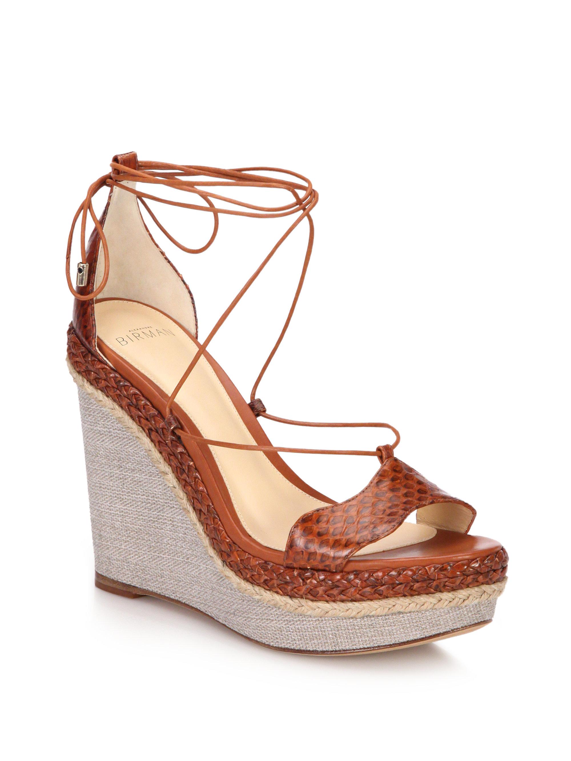 Alexandre Birman Snakeskin Sandal Wedges buy cheap discount CyVfjSHCT