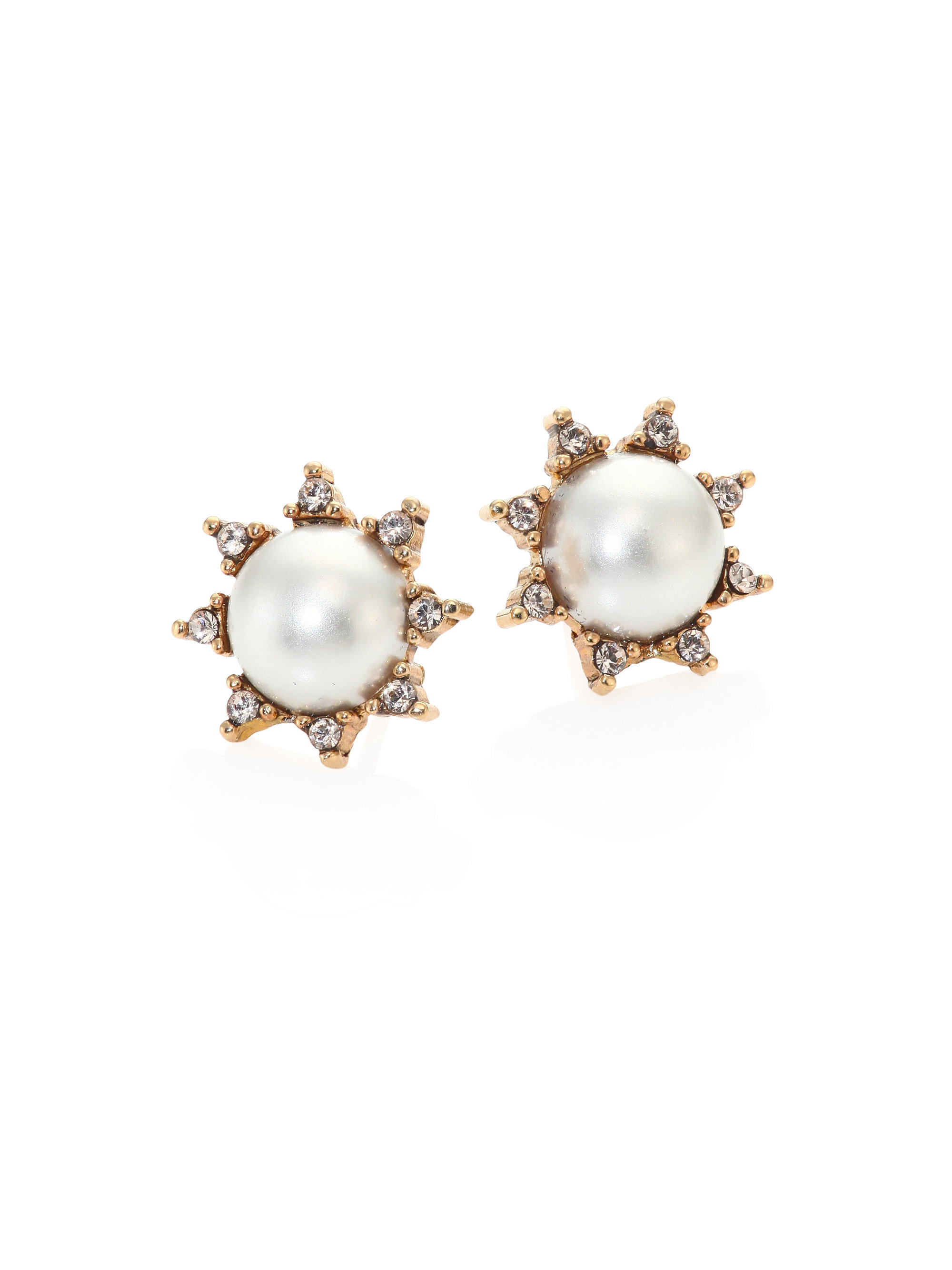 pearl earrings us pink s blush stud claire faux