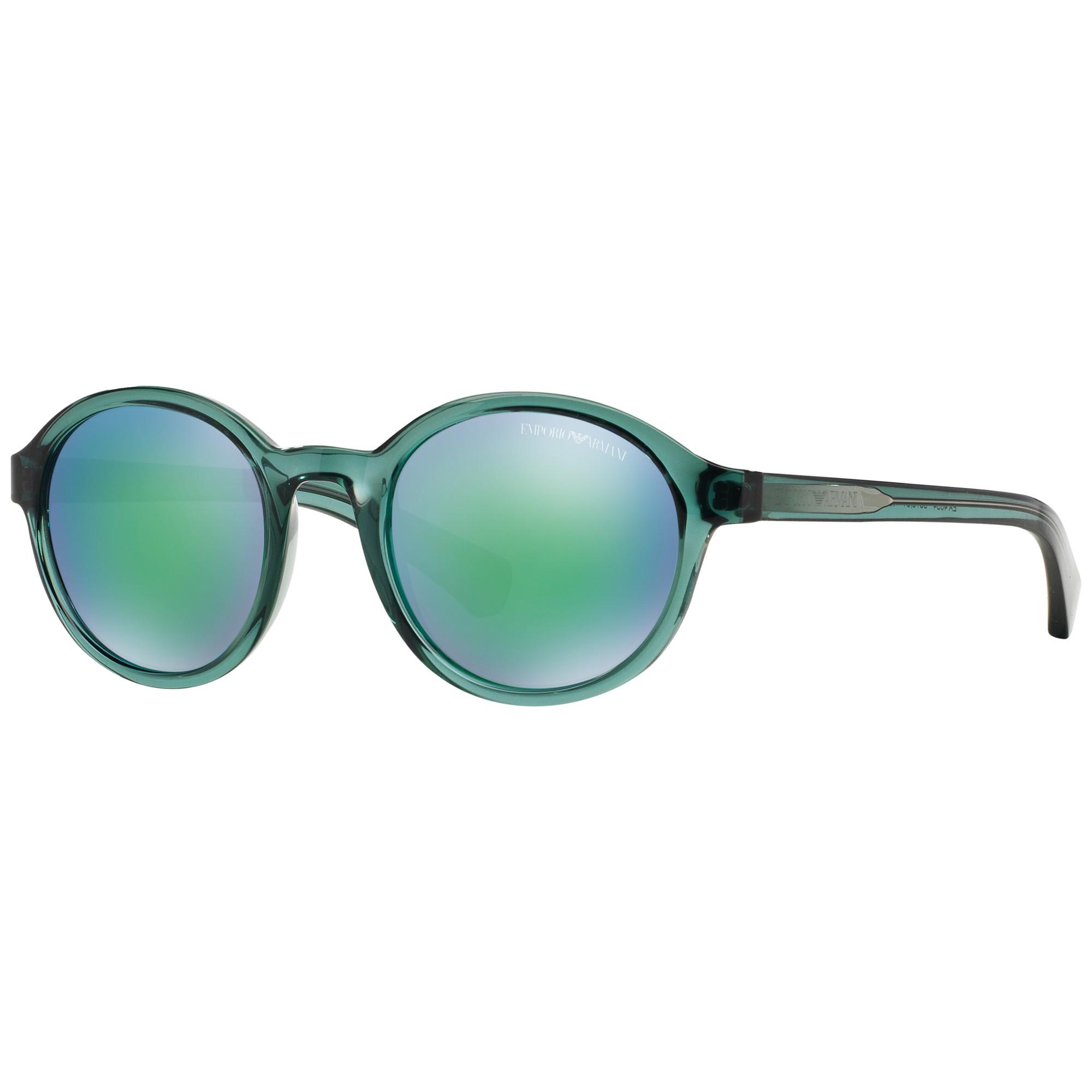 33fa539d68 Emporio Armani Ea4054 Round Framed Sunglasses in Green - Lyst