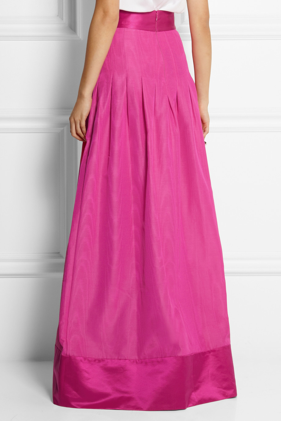 Temperley london Palais Cotton-Blend Taffeta Maxi Skirt in Pink | Lyst