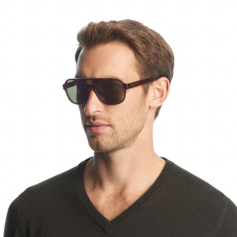 3ebd4a9db2 COACH Franklin Sunglasses in Black for Men - Lyst