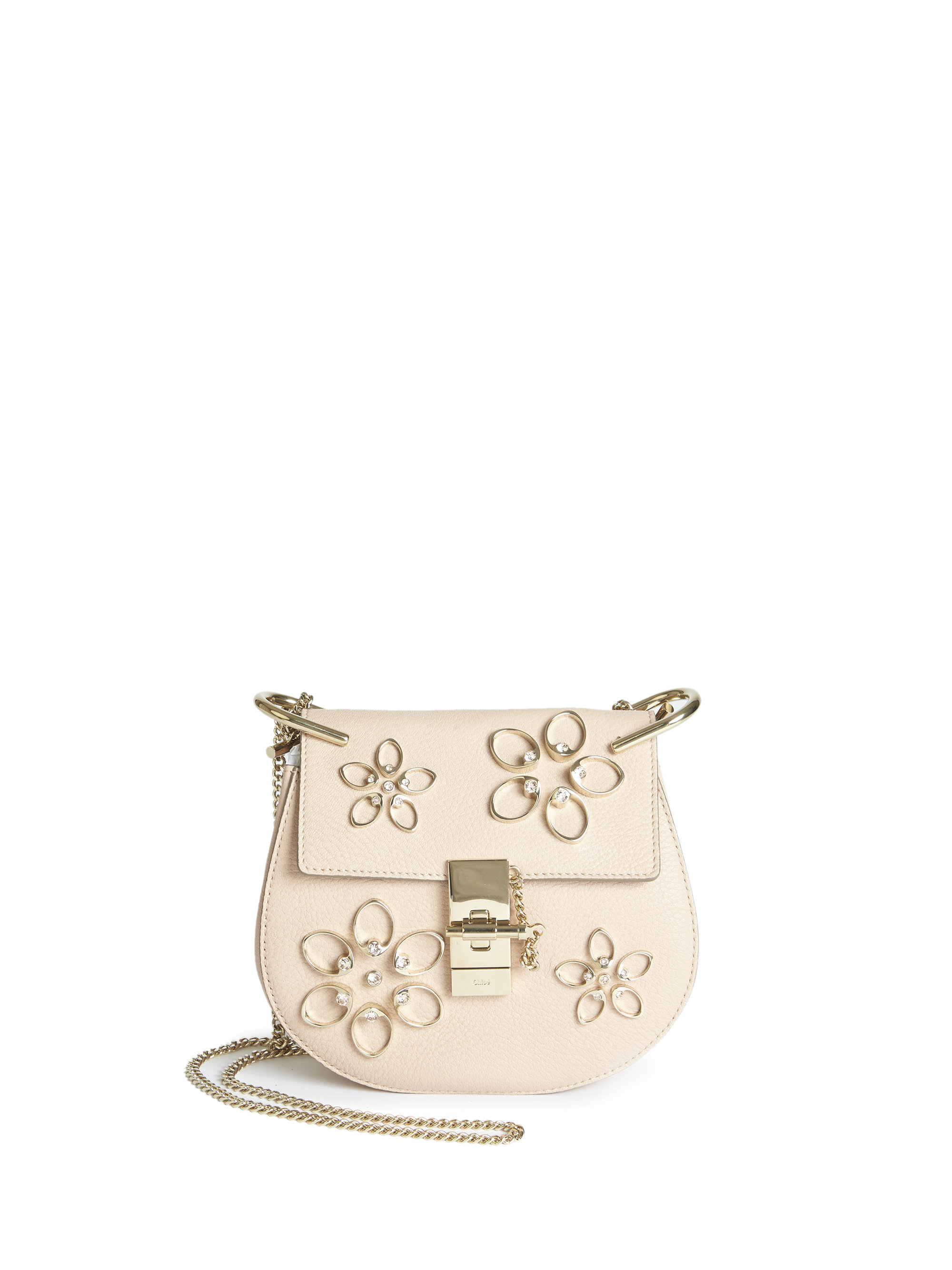 the best purse - Chlo�� Drew Mini Embellished Leather Cross-Body Bag in Pink (cement ...
